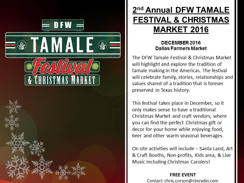 Tamale Festival/Christmas Dec 3